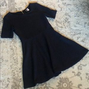Navy blue H&M skater dress with sleeves